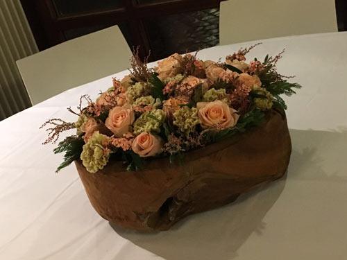 Winterse bloemencreatie