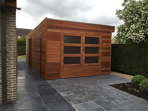 Tuinhuis van hout